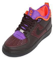 Mowabb Nike Air Force 1 Brown, Orange, and Purple