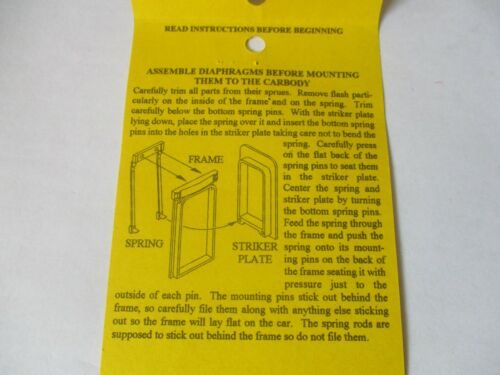 American Limited # 8810 Operating Diaphragms For Locomotives Black N-Scale