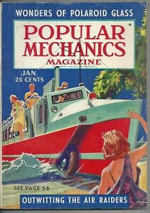 Magazine Popular Mechanics January 1940 Army Wheels Ham Radio Air Raiders WWII