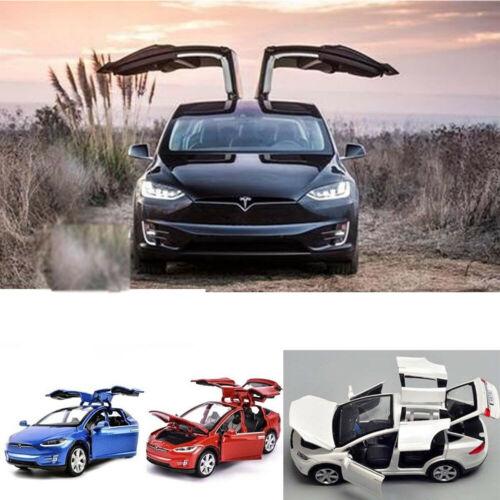 Tesla Model X90 Sound/&Light Car Toy Pull Back  Car Diecast Model  Suv 1:32 V8N4X