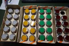 Kimuden 34 Vintage Indicator Panel Lights Screw Base 6s6 Type Red Lens