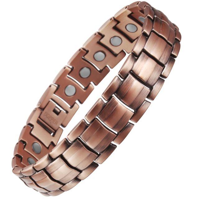 viterou mens magnetic pure copper bracelet with magnets. Black Bedroom Furniture Sets. Home Design Ideas