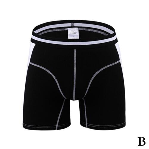 Mens Modal Boxershorts Shorts Langes Bein Sport Unterwäsche Seidig weich Fa Y7K2