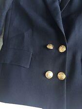 Giacca Blazer Zara Woman Blu Navy Stile Marinara Taglia S