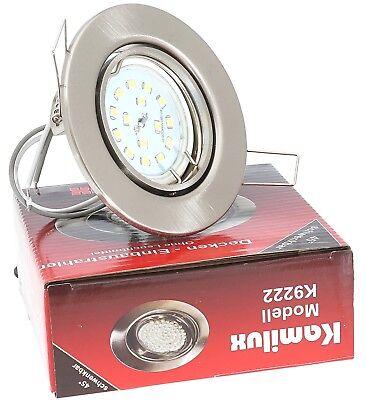 6X LED Einbaustrahler Einbau-Leuchten Lampe ultra-flach Decken-Spots TOM 5W 230V
