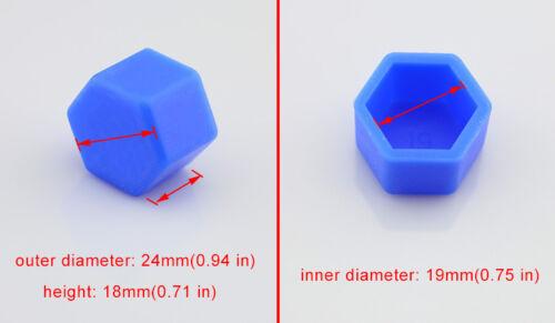 20x Blau Gummi Auto Radfelgen Hub-Bolzen Verschlusskappe Schutzhülle Zubehör