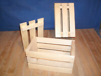 10 Wood Crate With Lid, Wooden Crate, Crate With Lid, Wedding Decor Crate,