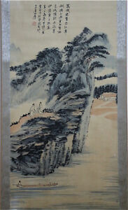 Excellent-Chinese-100-Hand-Painting-amp-Scroll-Landscape-By-Zhang-Daqian-BJD8