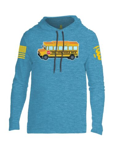Battleraddle The Struggle Bus Yellow Sleeve Mens Thin Cotton Lightweight Hoodie