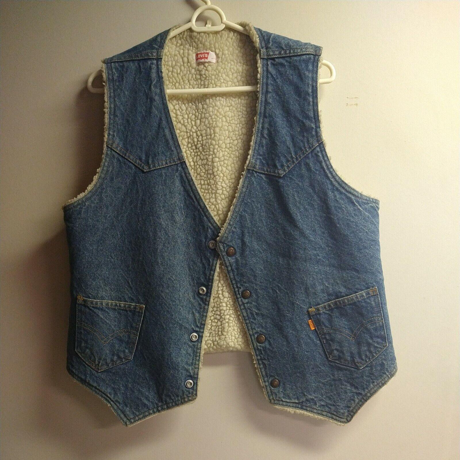 Levis vintage clothing Vest made in USA - image 1