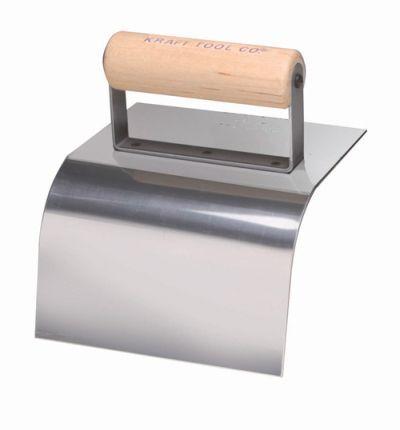 "Kraft Tool Concrete Curb Trowel Stainless Steel 3/"" Radius"