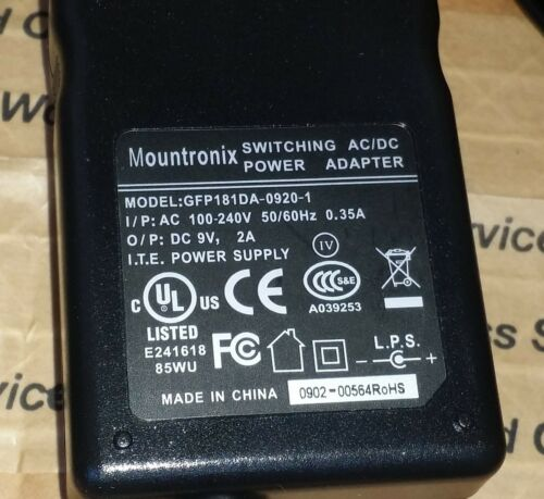PANDUIT 9V LS9-ACS WALL AC//DC Switching Power ADAPTER Charger 9V 2A US plug