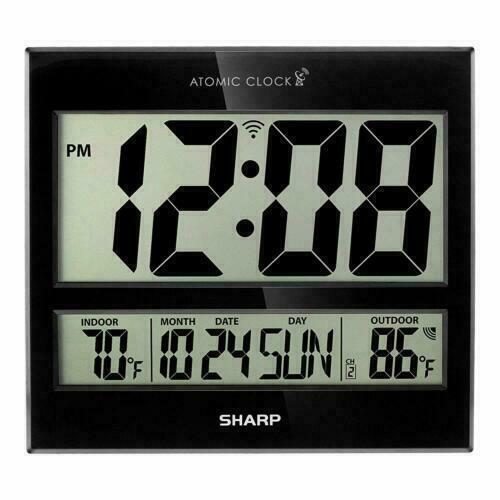 Sharp Spc1107 Digital Atomic Clock, Best Atomic Clock With Indoor Outdoor Temperature