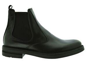 Dettagli su Scarpe uomo con elastici chelsea boots tronchetti vera pelle stivaletto made in