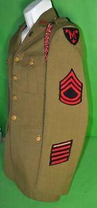 Vintage-1930-s-US-Army-Manlius-ROTC-HQ-Staff-uniform-Syracuse-New-York