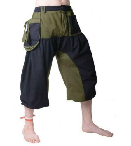 Pantaloni Uomo Hippie Dreiviertelhose in Stylishem Progettazione