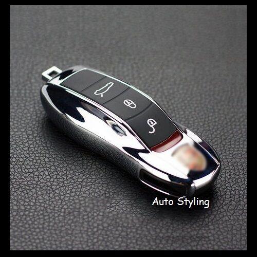 Chrome Key Fob Cover Remote Case Casing Shel Housing Side Replacement Porsche