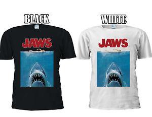 Jaws-T-Shirt-Movie-Poster-Cool-T-shirt-Baseball-Vest-Men-Women-Unisex-2673