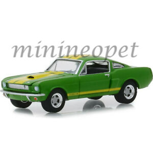 GREENLIGHT-30060-VINTAGE-AD-CARS-1966-FORD-MUSTANG-SHELBY-GT-350-1-64-GREEN