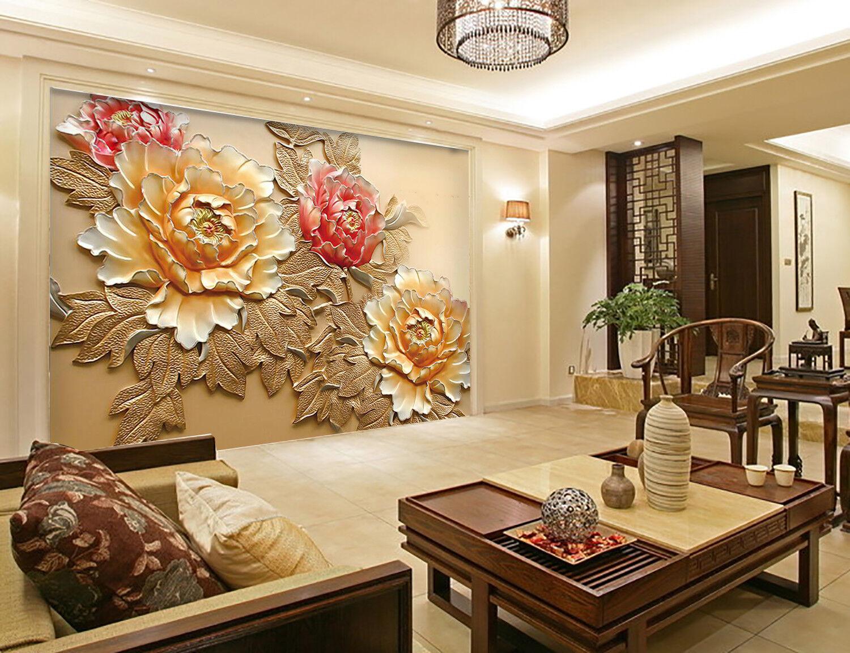 3D Blooming Peony 753 Wall Paper Murals Wall Print Wall Wallpaper Mural AU Kyra