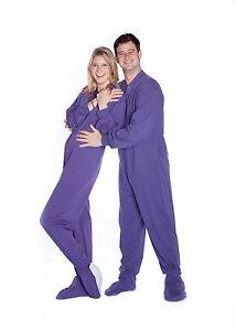 765930c38 Big Feet Pjs - Purple Jersey Knit - Adult Footed One Piece Pajamas ...