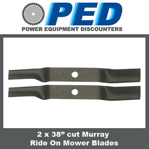 2-x-blades-to-fit-38-034-cut-Murray-ride-on-mower
