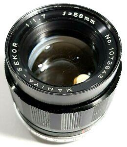 Mamiya-Sekor-F1-7-58-mm-Prime-Lens-M42-Mount-RARE-UK-rapide-POST