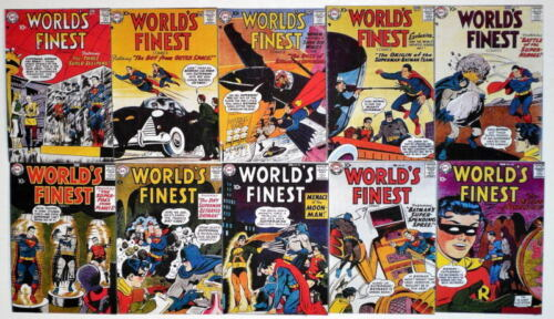 "10 WORLD'S FINEST COMICS 2"" x 3"" COVER MAGNETS World's Finest #91100"