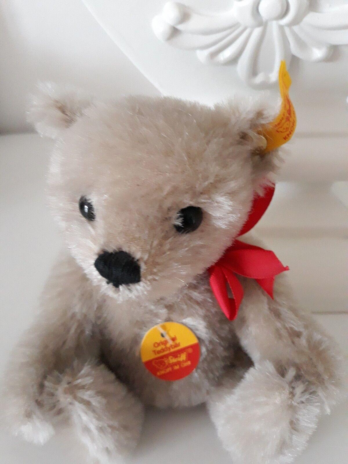 Steiff Steiff Steiff Original Miniatur Teddybär Grau ca. 15 cm Neu 317a25