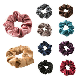 AU-Elastic-Hair-Tie-Band-Ring-Velvet-Ponytail-Holder-Rubber-Hairband-Accessories