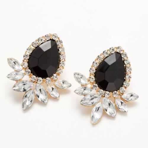 Luxury Statement Crystal Diamante Stud Evening Prom Party Bridal Earrings