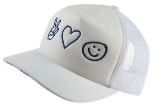 Hurley Women s Merica USA Trucker Hat Cap - White 885259258453  ca519db0e3