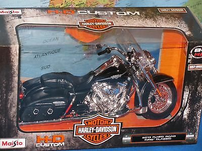 1/12 Maisto Harley Davidson 2013 Flhrc Road King Classic Motocicletta Nuovo