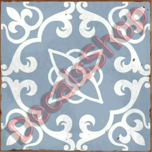 Traditional tile transfers stickers wall Vintage Victorian Moroccan retro mosaic