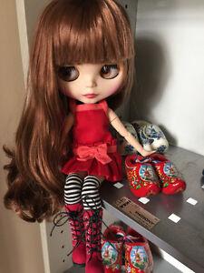 "Takara 12/"" Neo Blythe Doll from factory Dark Brown hair Sunny skin Joint body"