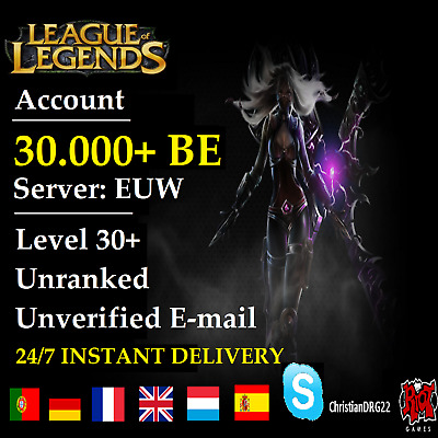 League of Legends Account LOL | EUW | Level 30+ | 30.000+ BE | Unranked