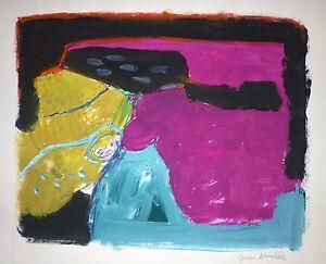 Juan-ALCALDE-ALONSO-gouache-sur-papier-signee-1970-abstract-art-abstrait