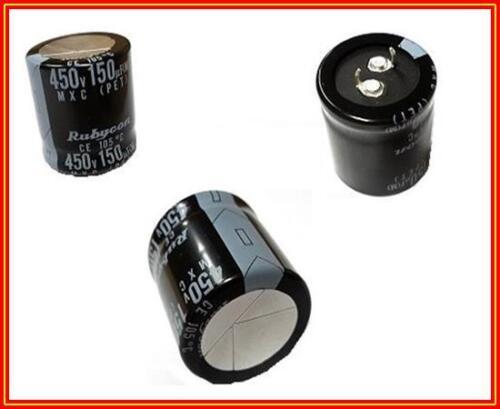Elko 150µF 450V condensador 20/% 105° RM 30x30mm snap 10 2 piezas
