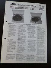 ORIGINALI service manual Saba CSP 380 PSP 480