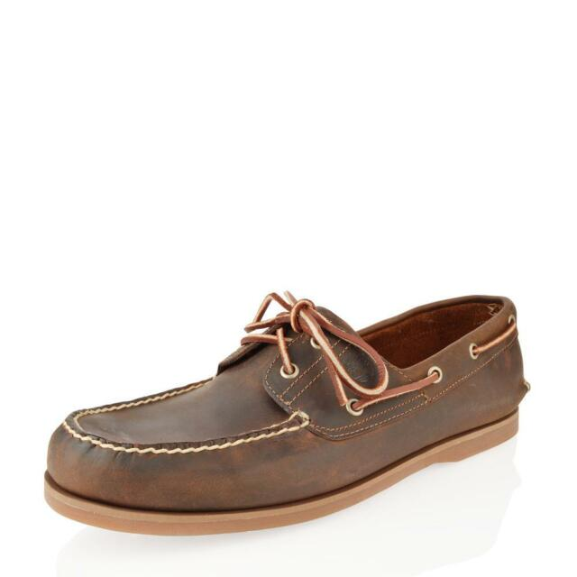 Men's Timberland Classic 2 Eye Boat Shoe Brown 1001R