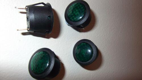 Luz indicadora de tablero ledround luz de advertencia 12 V Coche Furgoneta Verde