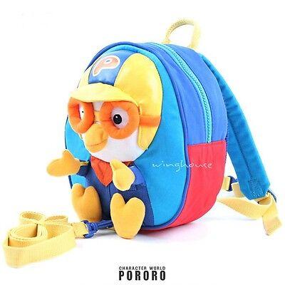 Korean TV Anime Little Penguin Pororo Face Shaped MIni Cross Pouch Bag for Kids