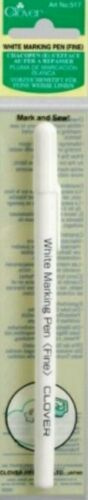 CLOVER FINE WHITE MARKING PEN IRON AWAY PEN  QUILTING,SEWING,CRAFTING BRAND NEW