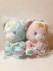 Sanrio Puff /& Poff sweets Plush doll set 45th Little Twin Stars Official Gift