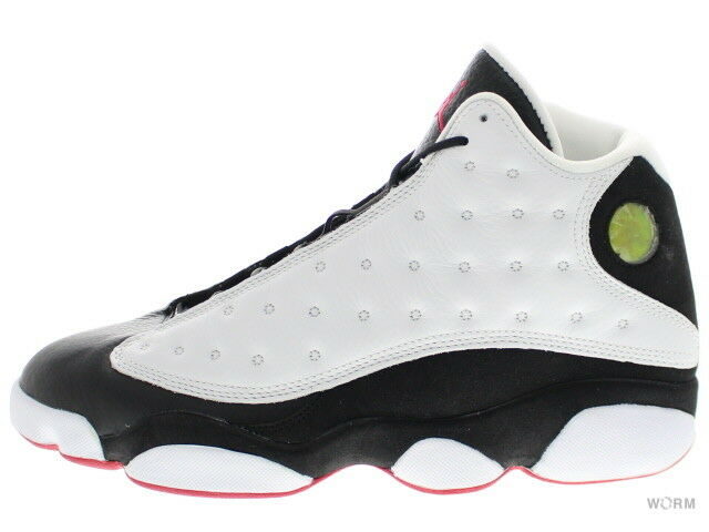 AIR JORDAN 13 RETRO CDP 309259-104 white black-true red Size 9.5