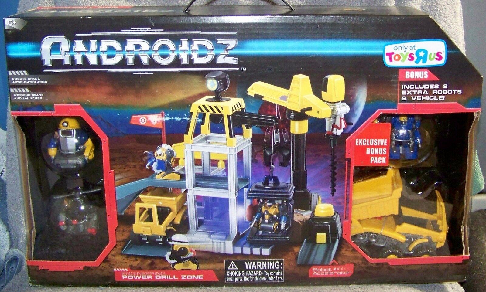 ANDROIDZ POWER DRILL ZONE BONUS PLAYSET W VEHICLE & 3 ROBOTS TOYS R US EXCLUSIVE