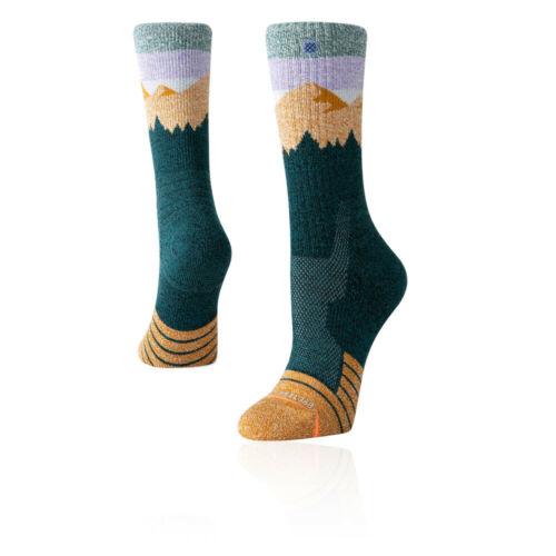 Stance Womens Ridge Line Hike Socks Green Sports Outdoors Breathable