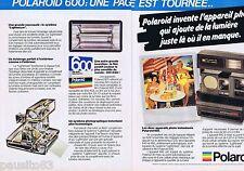 PUBLICITE ADVERTISING 095 1981 Polaroid l autofocus 660 (2 pages)