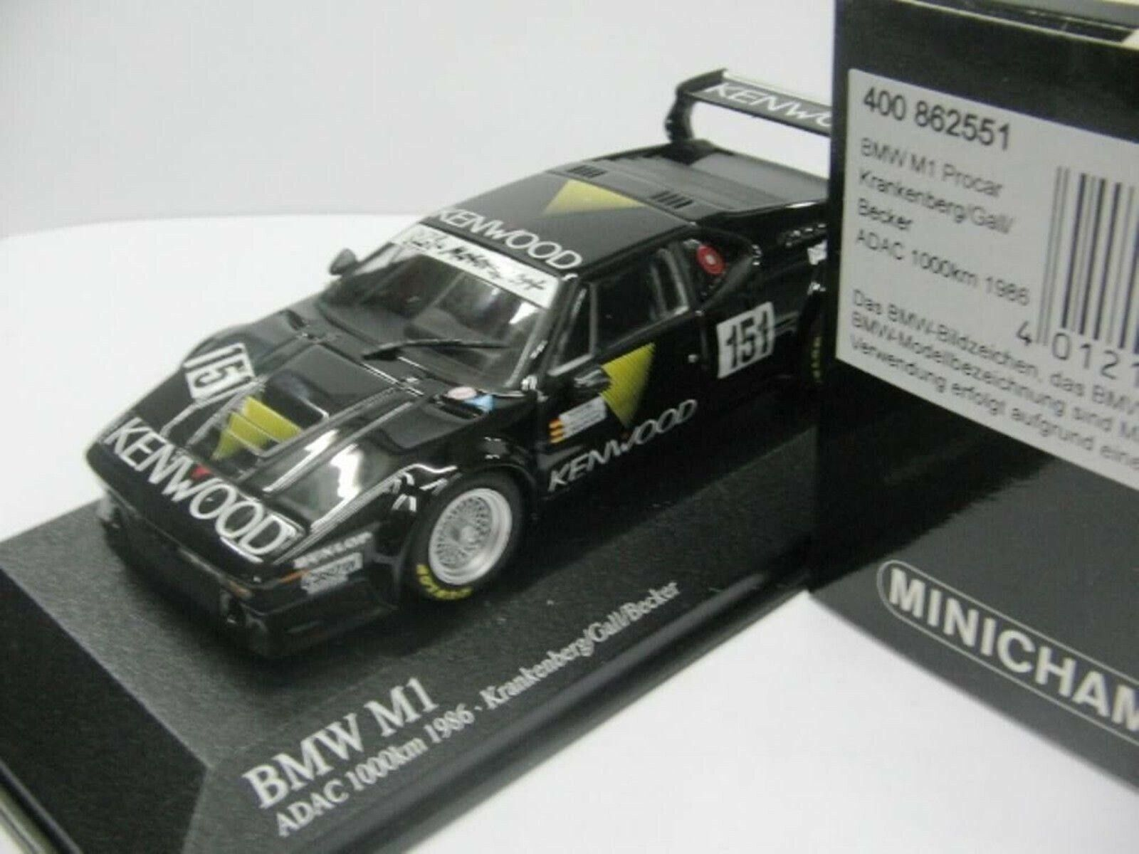 WOW EXTREMELY RARE BMW M1 E26 1986 Nürburgring 1 43 Minichamps-E21 M3