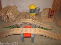 Thomas Wooden Railway Railroad Tracks and Bridge Toy Train Lot Gullane 42 Pieces